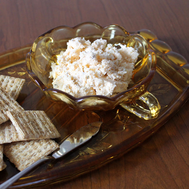 cheese spread for parties hungarian with caraway capers and paprika