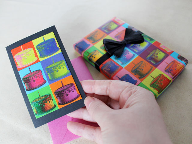 Handmade Birthday Cards Using Gift Wrap