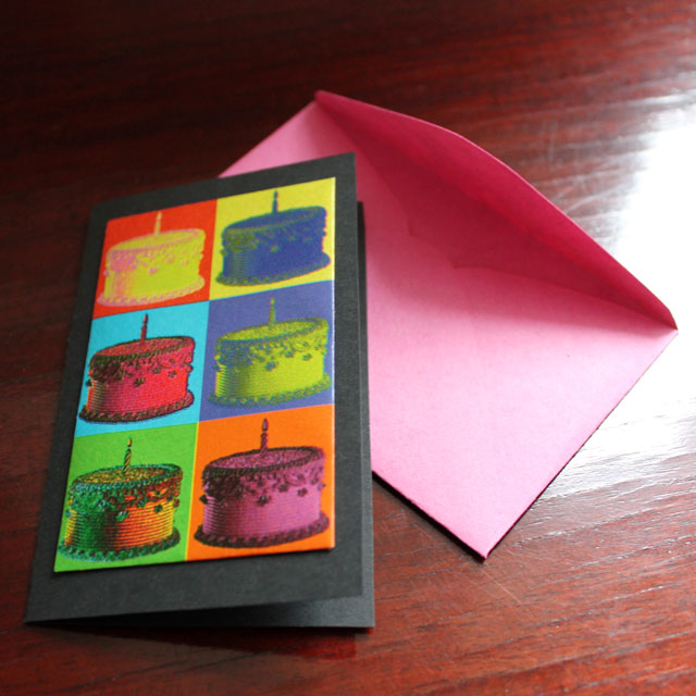 how to make a birthday card with gift wrapping paper