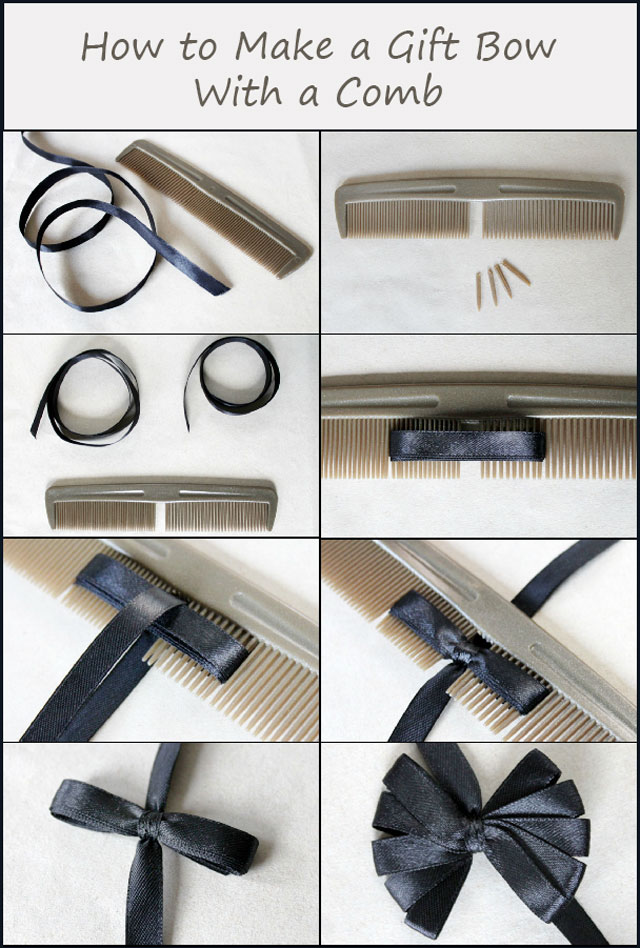 how-to-make-a-gift-bow-with-a-comb-diy-handmade-gift-wrapping