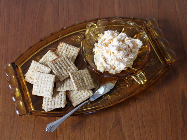 party food cheese spread with capers paprika caraway and beer hungarian