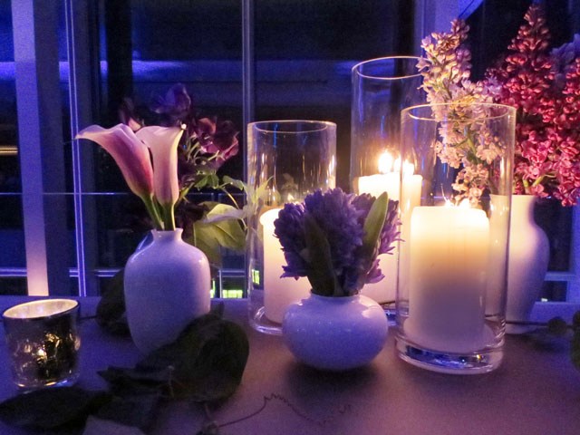 flowers and candles at the royal occasion 2015