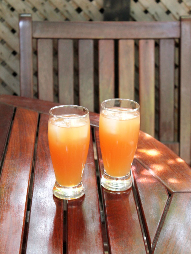 rum cocktails made with iced tea fruit juice and limoncello liqueur