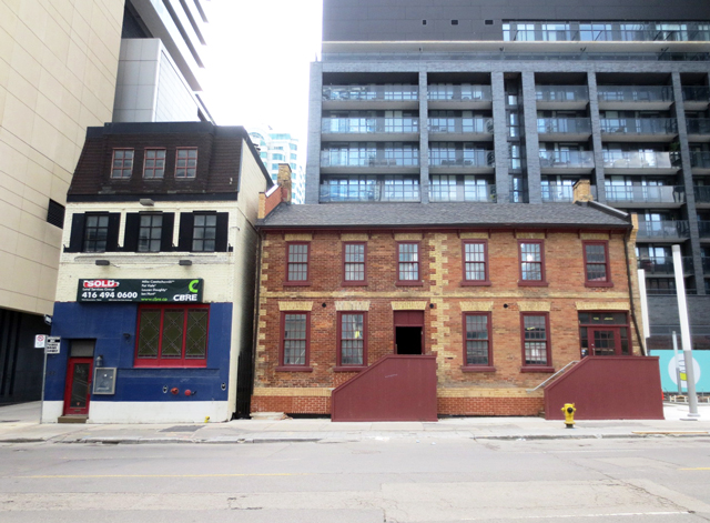 historic buildings on john street toronto that were moved further south from 106 john street toronto