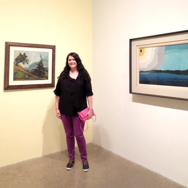 me-at-ago-picturing-the-americas-exhibit sun on the lake by arthur dove on right