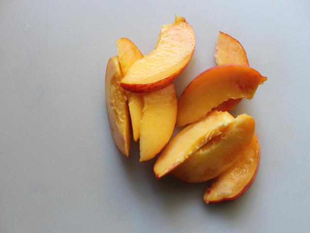 cut up peach