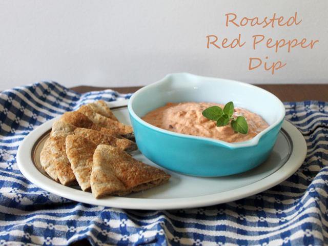 how to make roasted red pepper dip with feta and olives