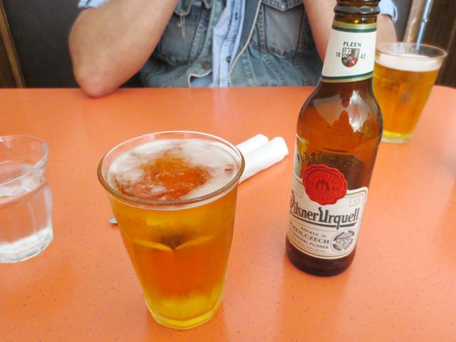 pilsner-urquell-beer-at-rose-and-sons-swan-restaurant-toronto
