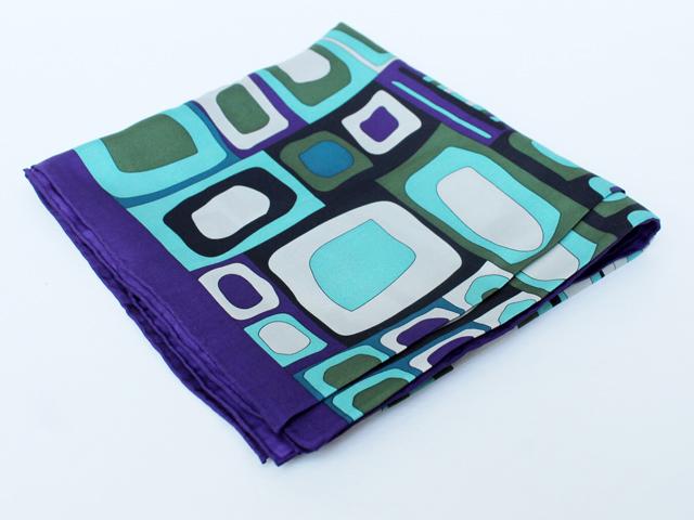 thrift store silk scarf large square codello