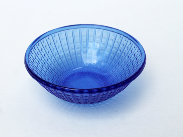 thrifted cobalt blue small glass bowl