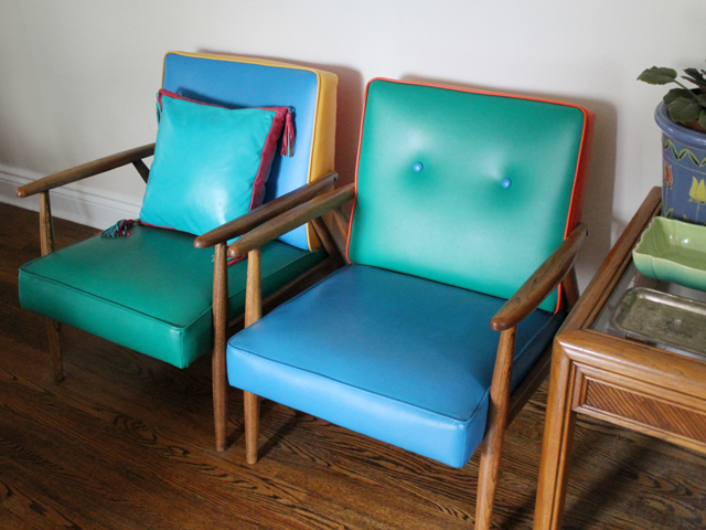 thrifted-cushion-on-vintage-chairs