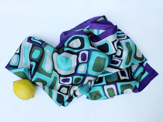 thrifted silk scarf codello