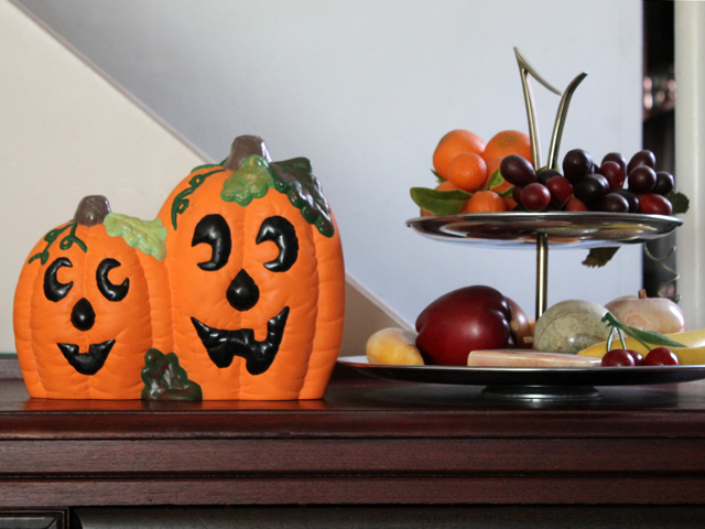 ceramic pumpkins halloween decoration handmade
