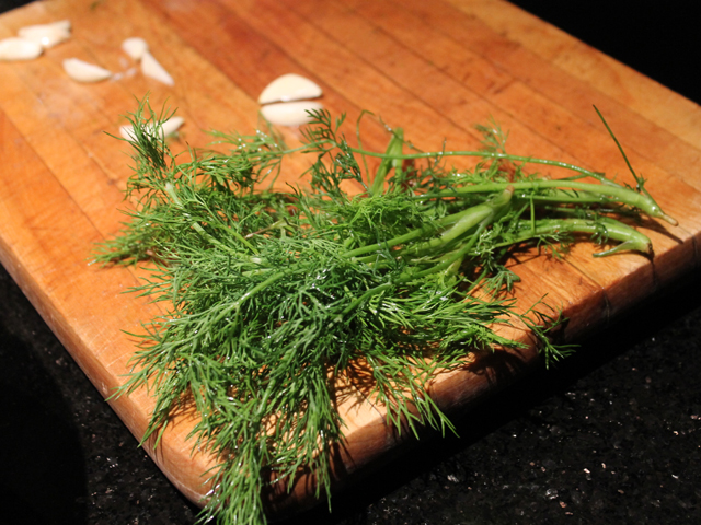 garlic-and-fresh-dill-for-making-pickles