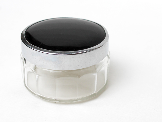 small-vintage-cosmetic-jar-chrome-and-pressed-glass-thrifted