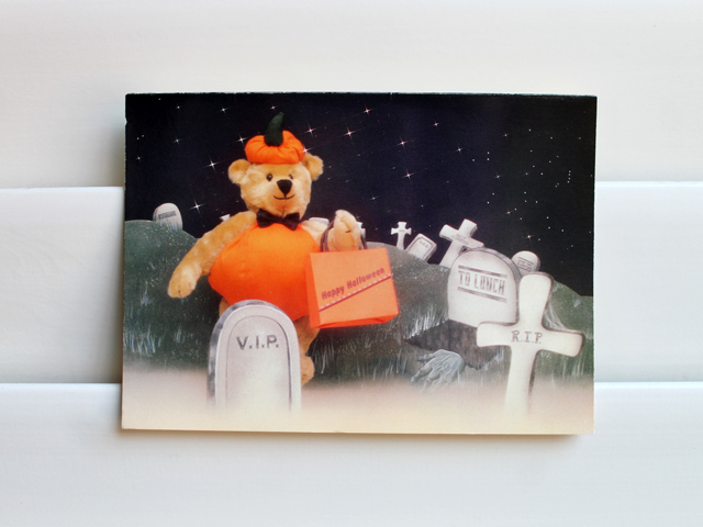 vintage eighties halloween greeting card