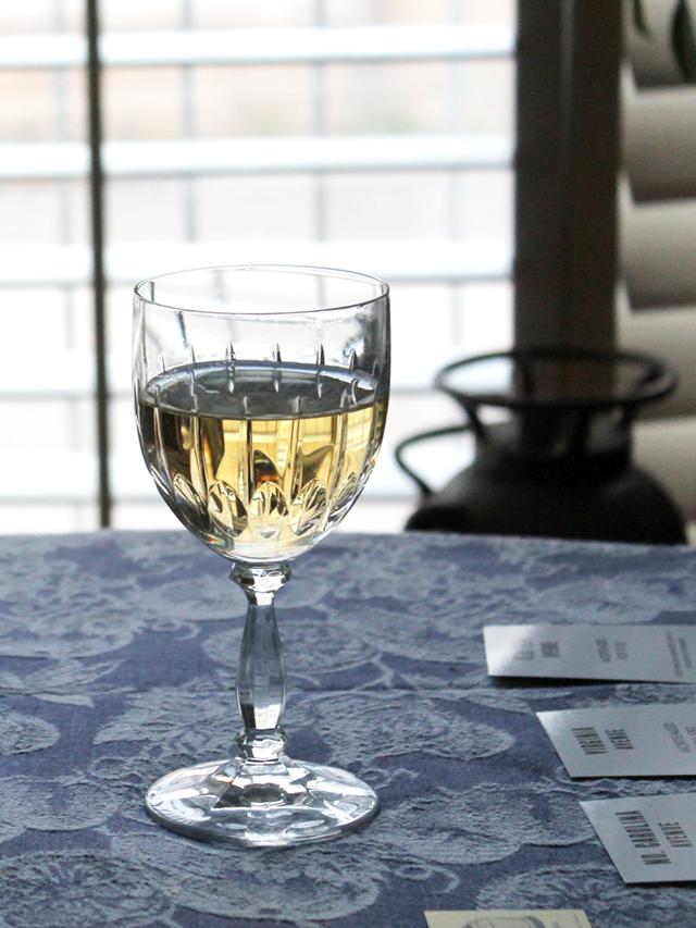 glass of rjs craft winemaking white wine