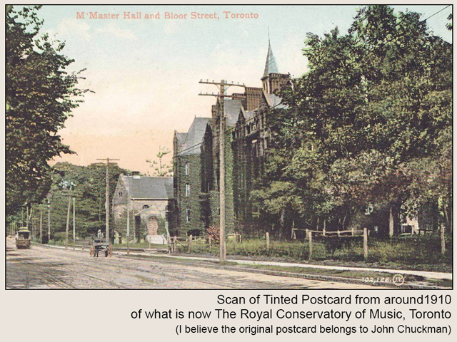 historic photo of royal conservatory of music toronto scan of tinted postcard