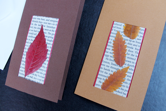 How to make a greeting card and a bookmark combined loulou downtown how to make greeting cards that include a bookmark with pressed leaves m4hsunfo