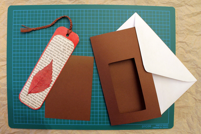 making-greeting-card-for-mailing-handmade-bookmark