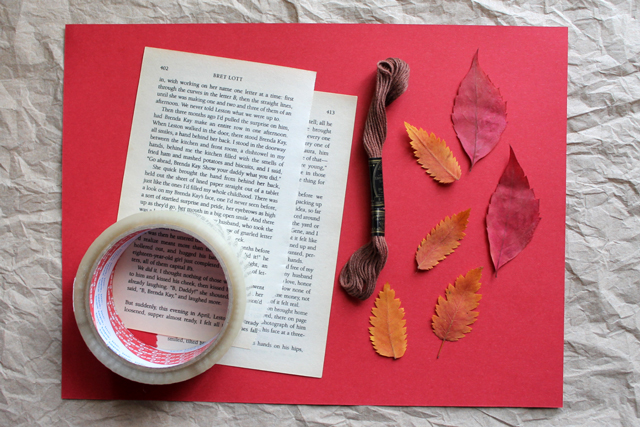 supplies-to-make-bookmarks-with-pressed-leaves