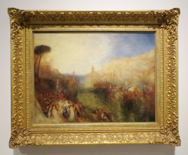the-departure-of-the-fleet-by-jmw-turner-displayed-in-original-frame-at-ago-art-gallery-of-ontario-toronto
