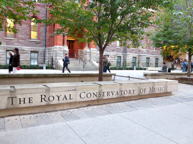 the royal conservatory of music toronto sign