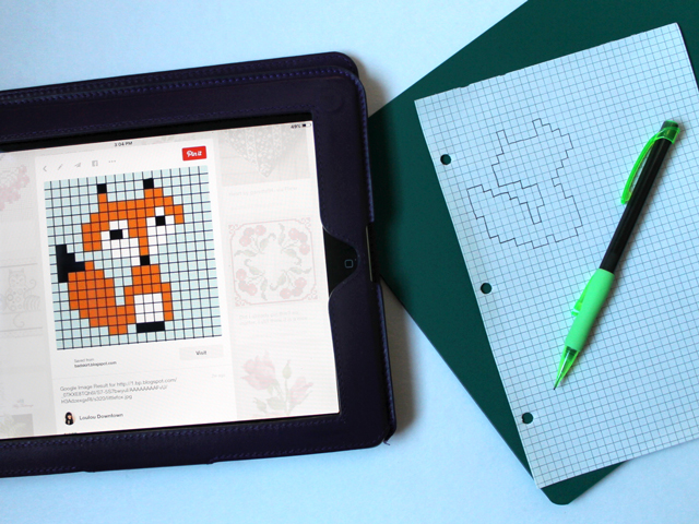 cross stitch on paper transferring pattern to graph paper