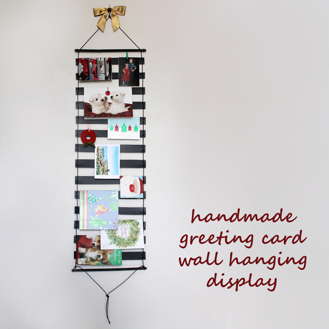 handmade greeting card holder display wall hanging christmas diy - Christmas Card Holder Wall Hanging