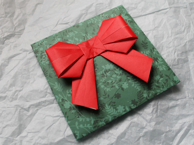 how to origami bow for gift wrapping and mailing