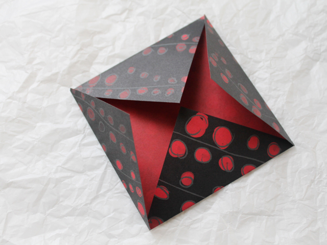 mailing idea origami envelope to put in greeting card for gift note iou cheque money gift cards