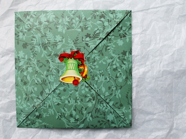 origami envelope sealed shut