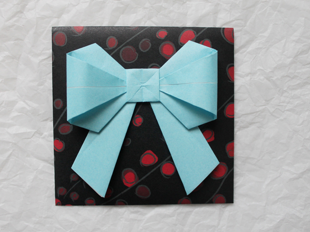 origami gift wrap for giving gift cards money iou