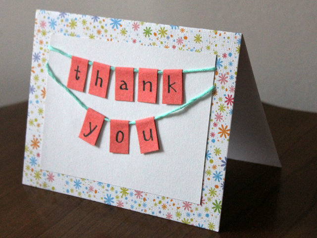 Handmade Thank You Card Diy How To Tutorial Loulou Downtown