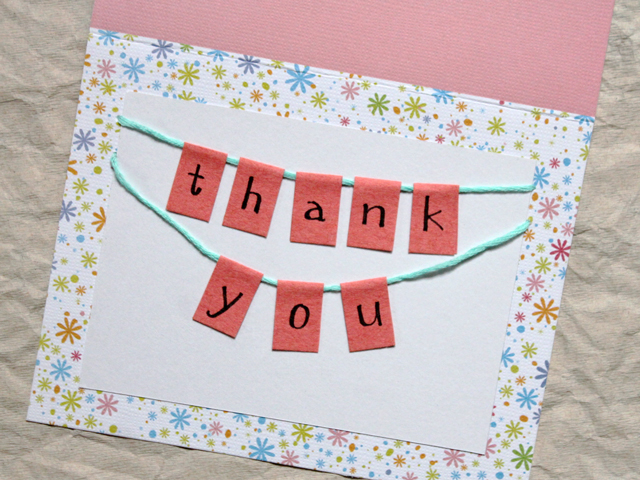 How To Make A Thank You Card Easy Handmade Loulou Downtown