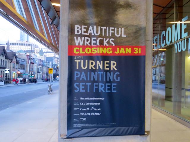closing sign turner exhibit at ago toronto