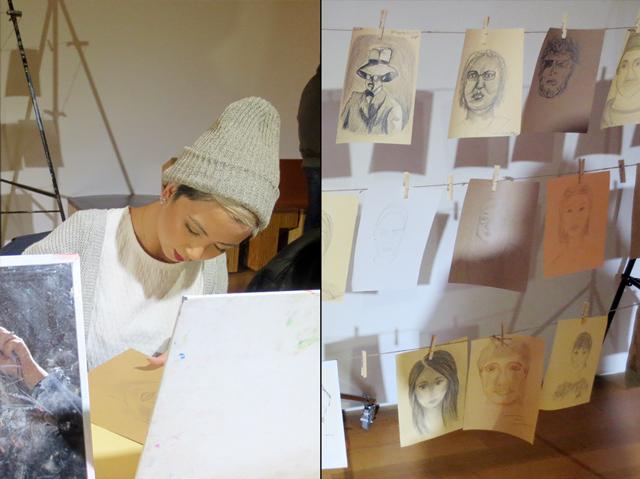 drawing self portraits ago