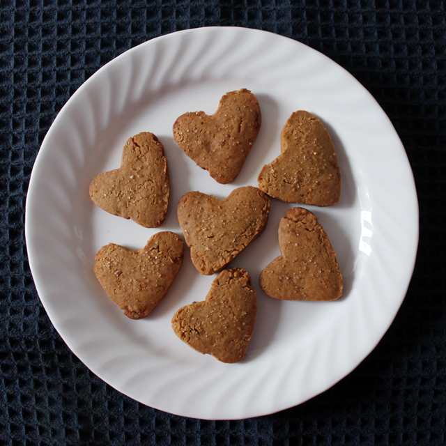 ice box ginger cookies heart shape optional