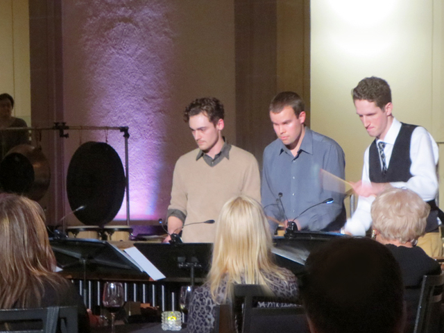 spectrum percussion ensemble at ago friday evenings event