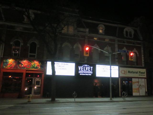velvet-underground-queen-street-west-toronto-reopening-weekend