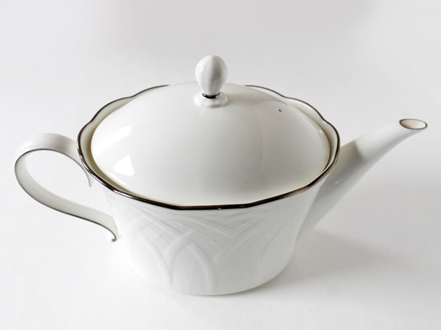bone china mikasa teapot from thrift store toronto