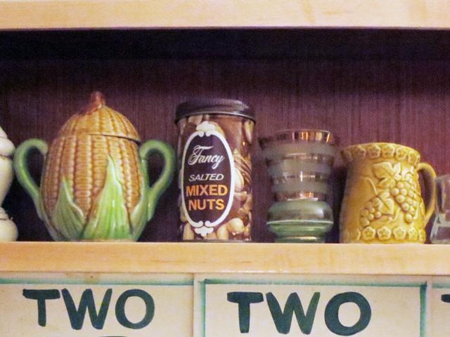 display of vintage things