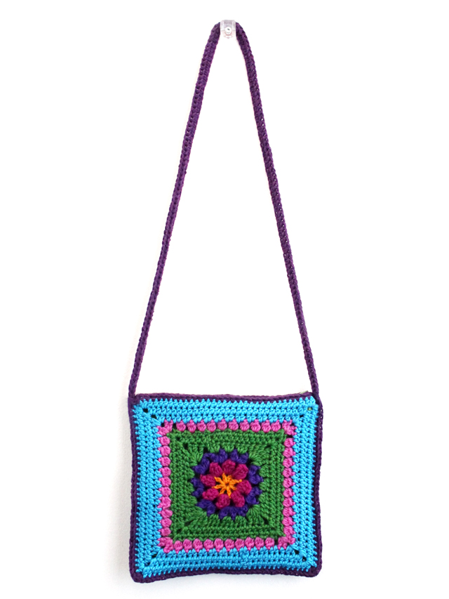 handmade crocheted cross body bag purse for a child