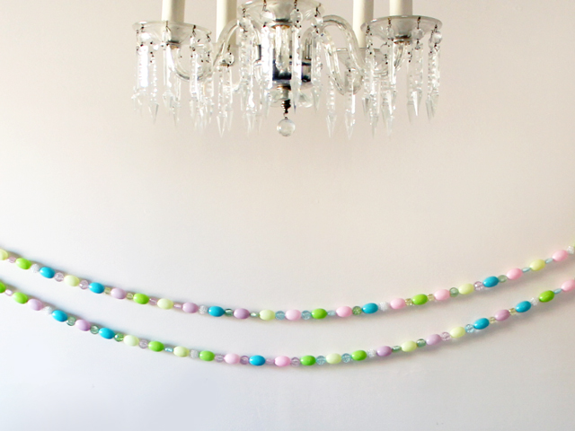 handmade easter garland decoration