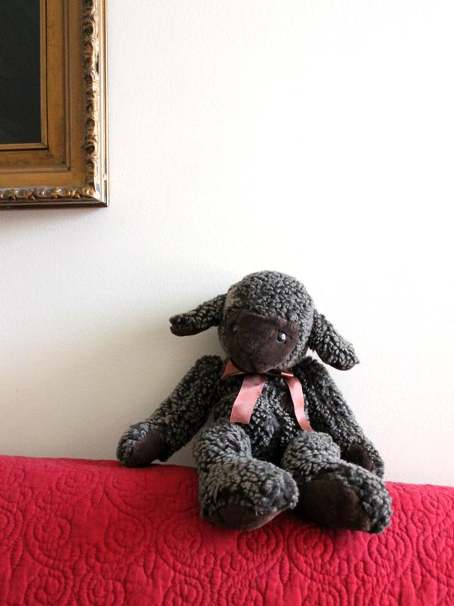 lamb stuffed toy