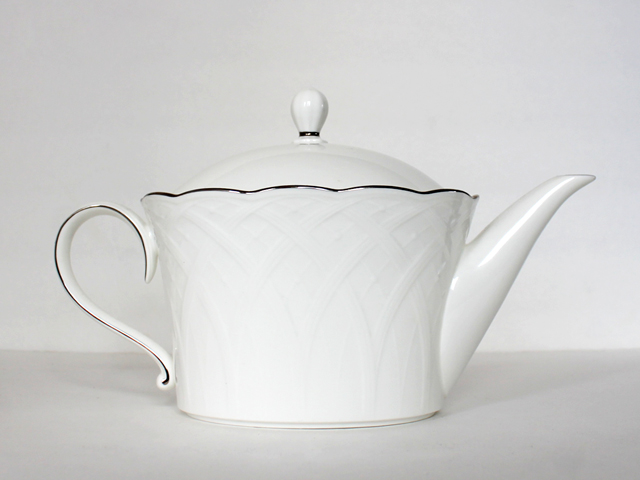 thrifted mikasa bone china teapot