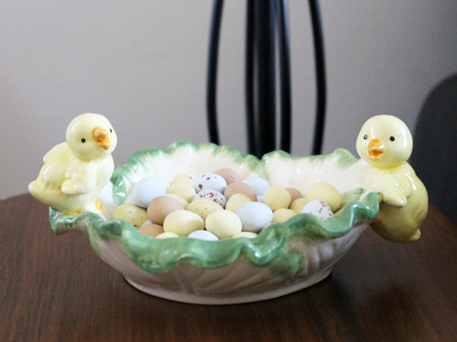 vintage look easter candy dish from michaels