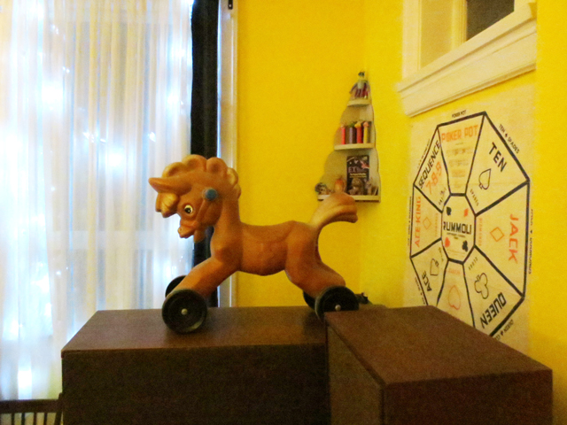 vintage plastic riding toy horse