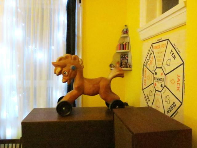 vintage plastic riding toy horse
