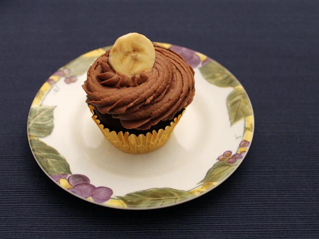 chocolate banana cupcake made by andrea